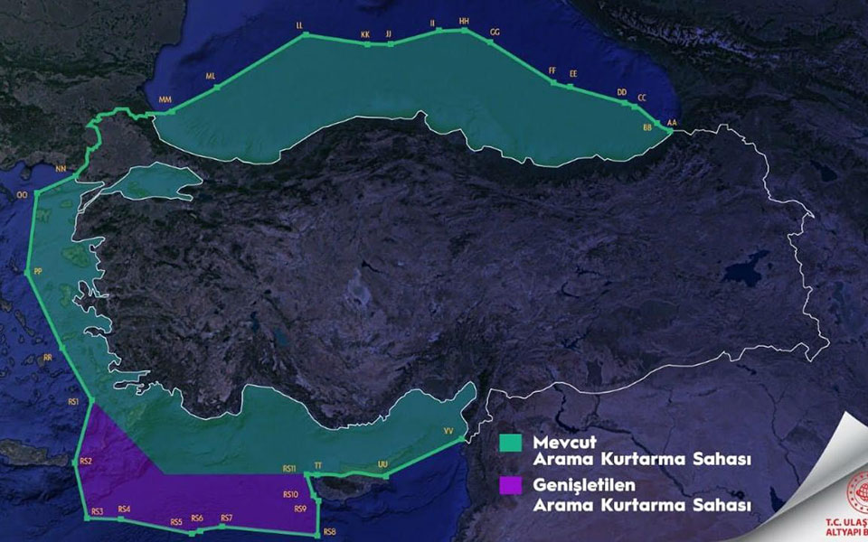 Νέος χάρτης – πρόκληση από την Αγκυρα