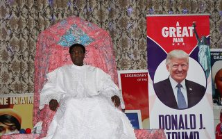 Rev. Daddy Hezekiah MFR, International Mayor of Peace and leader of the Living Christ Mission, leads a prayer in support of the U.S. President Donald Trump in Imo state, Nigeria October 25, 2020. Picture taken October 25, 2020.  SAMUEL ANYAEGBU/LIVING CHRIST MISSION/Handout via REUTERS ATTENTION EDITORS - THIS IMAGE WAS PROVIDED BY A THIRD PARTY. NO RESALES. NO ARCHIVES