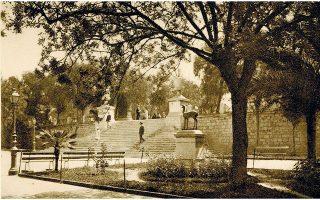 Η πλατεία Συντάγματος σε φωτογραφία του Φρεντ Μπουασονά (1919).