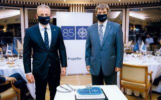 Ο Κωστής Φραγκούλης και ο Γιώργης Ξηραδάκης στην εκδήλωση.