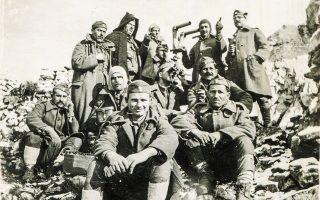 Οι προωθημένοι της IV Μοίρας Ορειβατικού Πυροβολικού. (Αποστολέας: Πέτρος Τσαπάρας)