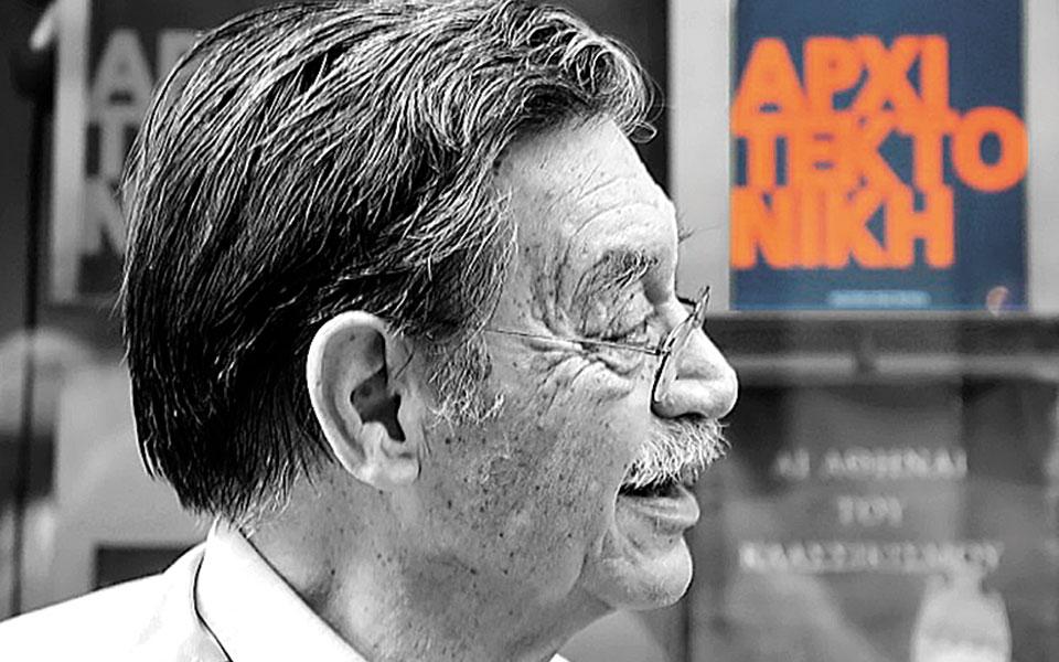 Ο Δημήτρης Φατούρος (1928-2020), από τους σημαντικότερους αρχιτέκτονες και ζωγράφους της γενιάς του, συγγραφέας και ποιητής, συνδιαμόρφωσε τον ελληνικό μεταπολεμικό μοντερνισμό (φωτ. Γιωργος Τριανταφυλλου).