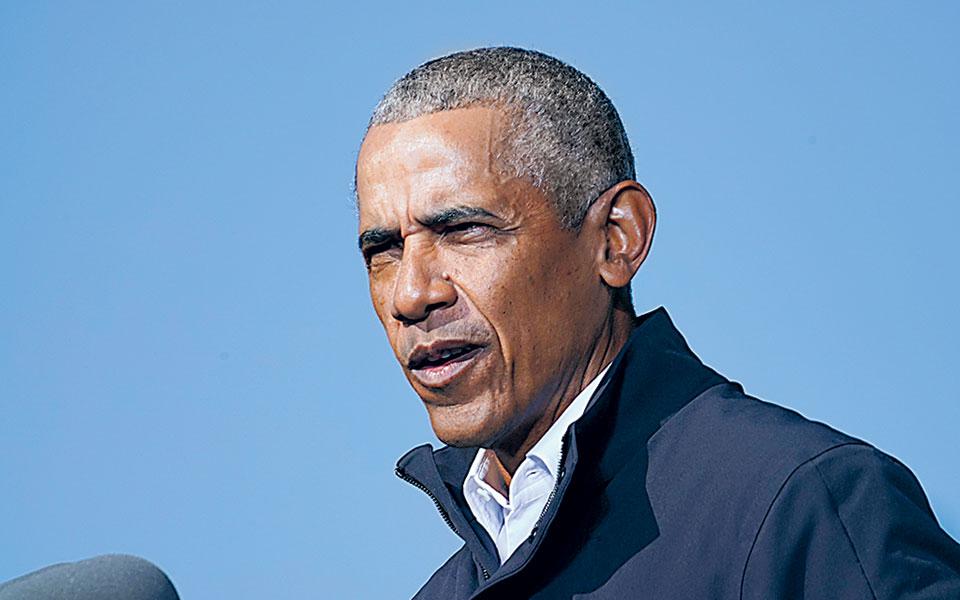 Παρά τον κίνδυνο που αντιμετωπίζει το αμερικανικό πείραμα, ο Μπαράκ Ομπάμα εμφανίζεται αισιόδοξος (φωτ. A.P.).