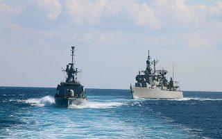 Μονάδες του Πολεμικού Ναυτικού κατά την πρόσφατη (ολοκληρώθηκε την Πέμπτη) διεξαγωγή της άσκησης «Νηρηίς 2020» νοτίως της Κρήτης (φωτ. ΥΠΕΘΑ).