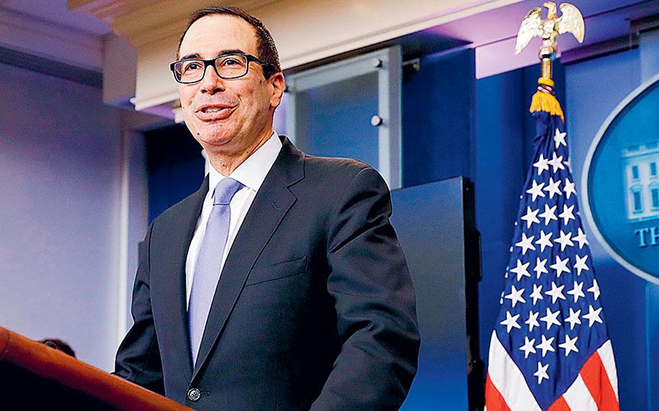 «Ζητάω από την Ομοσπονδιακή Τράπεζα των ΗΠΑ να επιστρέψει τα κεφάλαια τα οποία δεν έχουν χρησιμοποιηθεί», τονίζει σε επιστολή του ο υπουργός Οικονομικών των ΗΠΑ Στίβεν Μνούτσιν.