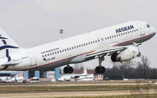 Μέχρι σήμερα η Aegean είναι η μόνη μεγάλη αεροπορική στην Ευρώπη που δεν έχει λάβει άμεση οικονομική υποστήριξη από το κράτος, με ό,τι αυτό σημαίνει για τον ανταγωνισμό με τους διεθνείς ομολόγους της. Σύμφωνα μάλιστα με αναλυτές του κλάδου, οι όροι για την παροχή της στήριξης είναι ιδιαιτέρως αυστηροί σε σχέση με τα μοντέλα που χρησιμοποιήθηκαν στις υπόλοιπες ευρωπαϊκές χώρες. INTIME