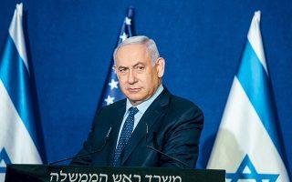 Ο Μπέντζαμιν Νετανιάχου έγινε ο πρώτος πρωθυπουργός του Ισραήλ που επισκέφθηκε τη Σαουδική Αραβία. Στη συνάντηση συμμετείχαν ο Αμερικανός ΥΠΕΞ Μάικ Πομπέο και ο επικεφαλής της Μοσάντ, Γιόσι Κοέν (φωτ. A.P.).