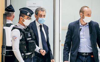 O Νικολά Σαρκοζί προσέρχεται σε δικαστήριο του Παρισιού (φωτ. REUTERS / Charles Platiau)