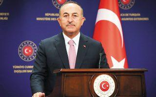 Ανέβηκαν οι τόνοι στο ζήτημα της επέμβασης στο τουρκικό εμπορικό πλοίο «Roseline-A» μετά τις δηλώσεις του Μεβλούτ Τσαβούσογλου (φωτ. A.P.).