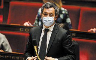 O υπουργός Εσωτερικών της Γαλλίας Ζεράλ Νταρμανέν (φωτ. EPA).
