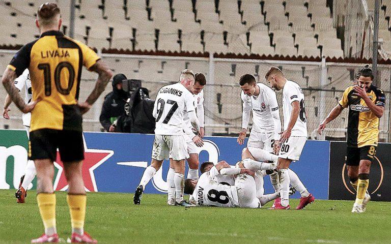 Νύχτα ντροπής για ΑΕΚ, ήττα 0-3 από τη Ζόρια