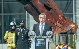 O γενικός γραμματέας του ΝΑΤΟ, ο Νορβηγός κ. Στόλτενμπεργκ, προερχόμενος από την πιο δημοκρατική χώρα της Ευρώπης, κάνει τα στραβά μάτια σε ό,τι αφορά τις παραβιάσεις των καταστατικών αρχών του ΝΑΤΟ από την Τουρκία (φωτ. A.P.).