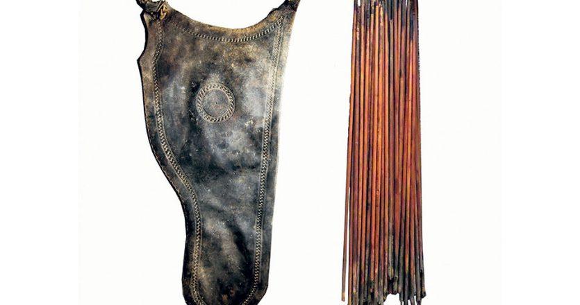 Το πολεμικό όπλο βρέθηκε στο σκευοφυλάκιο της μονής και είναι άριστα διατηρημένο, ενώ αντίστοιχα ευρήματα υπάρχουν στα Μουσεία της Βιέννης και της Καρλσρούης.