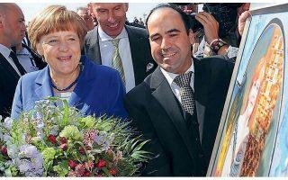 Το 2015 ο κ. Βαΐου χάρισε στη Γερμανίδα καγκελάριο το πορτρέτο που είχε παραγγείλει ειδικά για εκείνη, το οποίο θεωρεί ότι συμβολίζει την ελληνογερμανική φιλία.