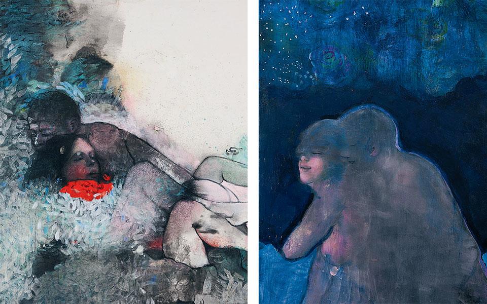 Στα νέα έργα της Μαρίας Γιαννακάκη κυριαρχεί ο υπαινικτικός κόσμος των ερωτικών φαντασιώσεων σε μια απόλυτα αρμονική αφήγηση.