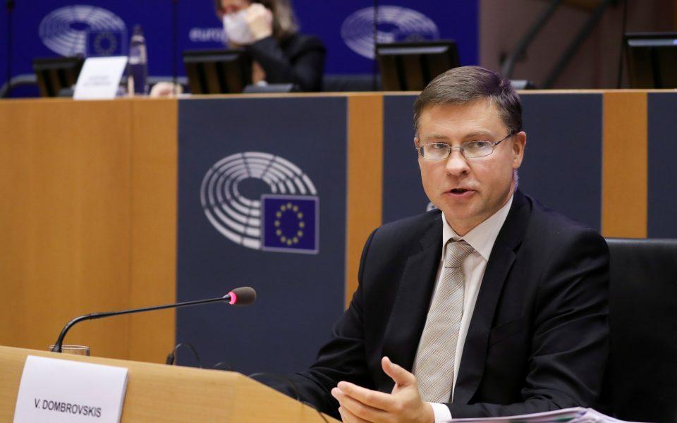 Ο Αντιπρόεδρος της Κομισιόν, Βάλντις Ντομπρόβσκις  φωτ. REUTERS CONNECT