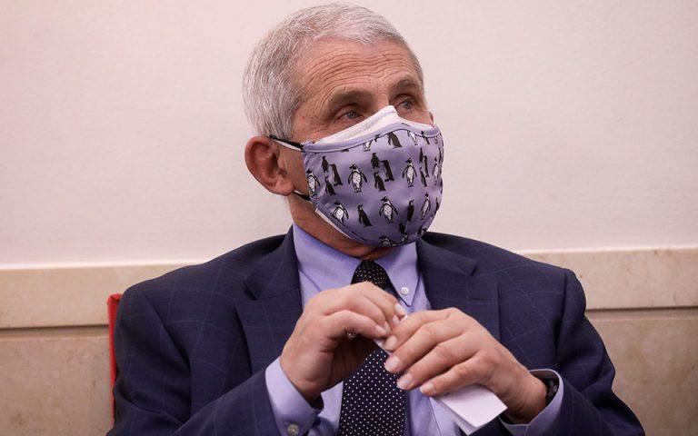 Αντονι Φάουτσι: Φόβος για εκτόξευση των κρουσμάτων στις ΗΠΑ