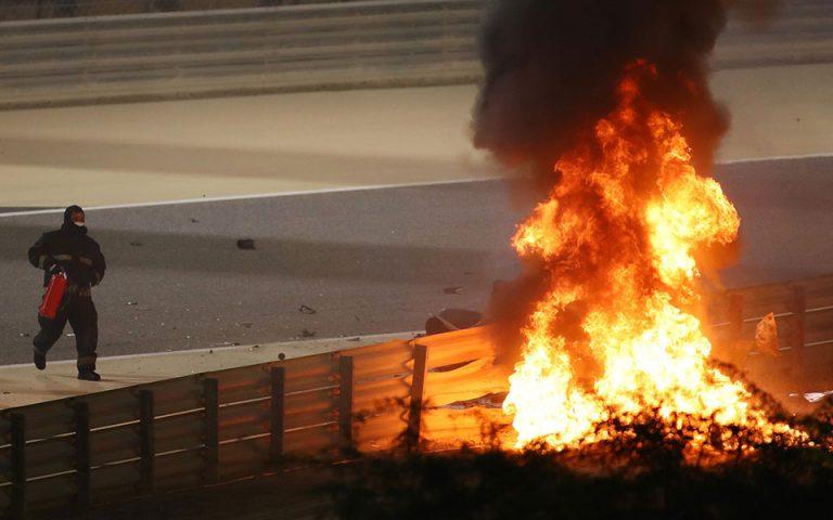 Στις φλόγες μονοθέσιο στο Grand Prix του Μπαχρέιν