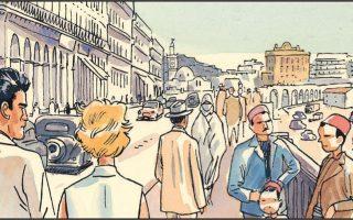 Με τη βοήθεια των εικόνων ξετυλίγεται το ταξίδι του Καμύ και του ήρωά του ανάμεσα στη Γαλλία και στην Αλγερία, σε δύο κόσμους και δύο εποχές.