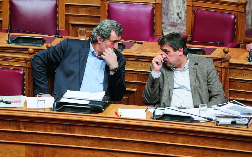 Παύλος Πολάκης και Ανδρέας Ξανθός μοιάζουν δυο ξένοι στο ίδιο κόμμα. Φωτ. ΙΝΤΙΜΕ ΝΕWS