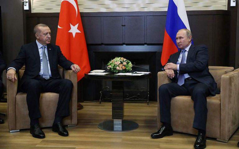 Συνομιλία Πούτιν – Ερντογάν για την εκεχειρία στο Ναγκόρνο Καραμπάχ
