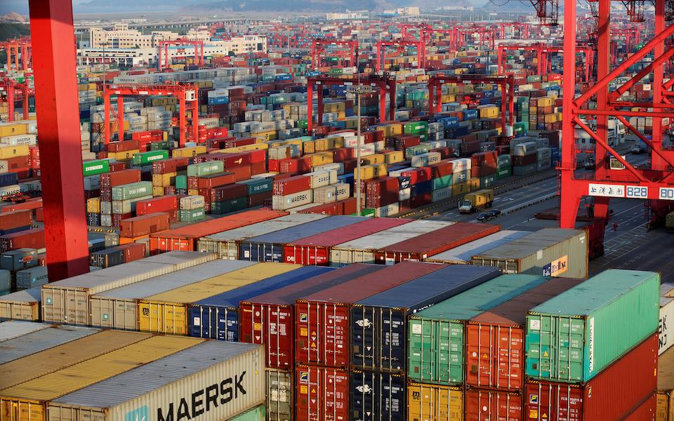 Η ζώνη ελεύθερου εμπορίου στη Σαγκάη.  φωτ. Reuters