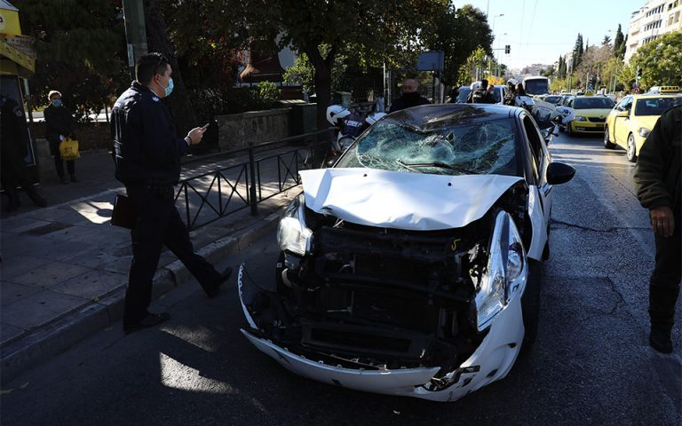 Τροχαίο με δύο τραυματίες αστυνομικούς στη Βασ. Σοφίας