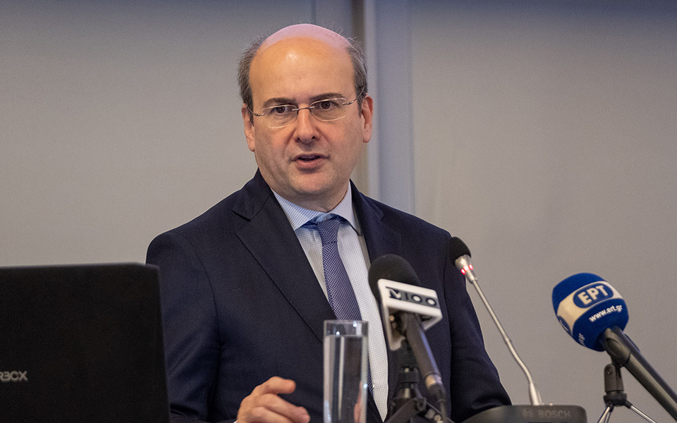 Ο υπουργός Περιβάλλοντος και Ενέργειας Κωστής Χατζηδάκης  μιλάει στην ημερίδα για το ενεργειακό μέλλον της Θεσσαλονίκης, Παρασκευή  7 Φεβρουαρίου 2020. ΑΠΕ-ΜΠΕ/ΑΠΕ-ΜΠΕ/ΝΙΚΟΣ ΑΡΒΑΝΙΤΙΔΗΣ
