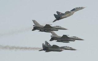Ρωσικής κατασκευής αεροσκάφη, όπως τα Mig-29 της πολωνικής αεροπορίας, έχουν συμμετάσχει δεκάδες φορές σε επιχειρήσεις επιτήρησης του ΝΑΤΟ στις Βαλτικές Χώρες (φωτ. A.P. Photo/Alik Keplicz).