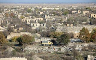 Το Αγκντάμ μετά το πέρασμα των Αζέρικων ενόπλων δυνάμεων (Φωτ.: Reuters)