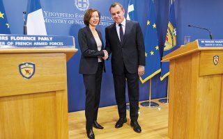 Οι διμερείς αμυντικές σχέσεις συζητήθηκαν κατά την επικοινωνία του Νίκου Παναγιωτόπουλου με τη Φλοράνς Παρλί. Η υπουργός Ενόπλων Δυνάμεων της Γαλλίας αναμένεται να επισκεφθεί την Αθήνα στις 23 Δεκεμβρίου (φωτ. αρχείου INTIME NEWS).