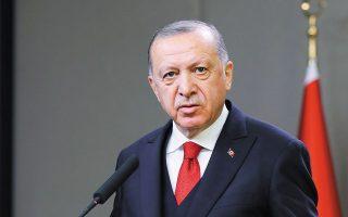 «Θα εξακολουθήσουμε να υποστηρίζουμε όσα δικαιώματα έχουμε  στην Ανατολική Μεσόγειο. Ομως αν η Ελλάδα ως γείτονας συμπεριφερθεί έντιμα, θα συνεχίσουμε να είμαστε στο τραπέζι», δήλωσε ο Τούρκος  πρόεδρος Ταγίπ Ερντογάν (φωτ. Turkish Presidency via A.P., Pool ).