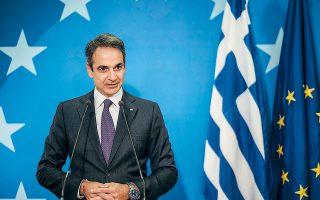 «Οι κυρώσεις αυτές καθαυτές δεν είναι αυτοσκοπός για την Ελλάδα. Η απειλή όμως των κυρώσεων είναι ένας τρόπος να πιέσουμε την Τουρκία να αλλάξει συμπεριφορά», σημείωσε ο πρωθυπουργός Κυρ. Μητσοτάκης, χθες, στη συνέντευξη Τύπου στις Βρυξέλλες (φωτ. ΑΠΕ-ΜΠΕ / ΓΡΑΦΕΙΟ ΤΥΠΟΥ ΠΡΩΘΥΠΟΥΡΓΟΥ / ΔΗΜΗΤΡΗΣ ΠΑΠΑΜΗΤΣΟΣ).