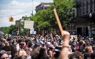 Στιγμιότυπο από διαδήλωση του κινήματος Black Lives Matter στο Μίσιγκαν.