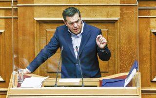 Ηδη από τα τέλη Νοεμβρίου ο πρόεδρος του ΣΥΡΙΖΑ Αλέξης Τσίπρας είχε προειδοποιήσει πως «όταν τελειώσει το υγειονομικό σκέλος της κρίσης, θα γίνει λογαριασμός». (Φωτ. INTIME NEWS)