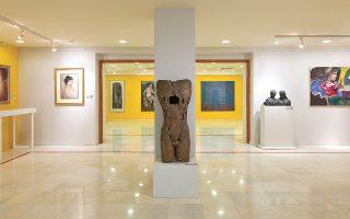 Η έκθεση «Βιογραφία» εστιάζει στην ανθρώπινη μορφή και είναι η πρώτη της νέας περιόδου του Μουσείου Νεοελληνικής Τέχνης της Ρόδου (φωτ. ΕΥΑΓΓΕΛΟΣ ΧΑΤΖΗΚΕΛΗΣ).