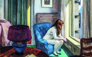 «Εντεκα π.μ.», λεπτομέρεια. Πίνακας του Εντουαρντ Χόπερ (1926).  Φωτ. Hirshhorn Museum and Sculpture Garden