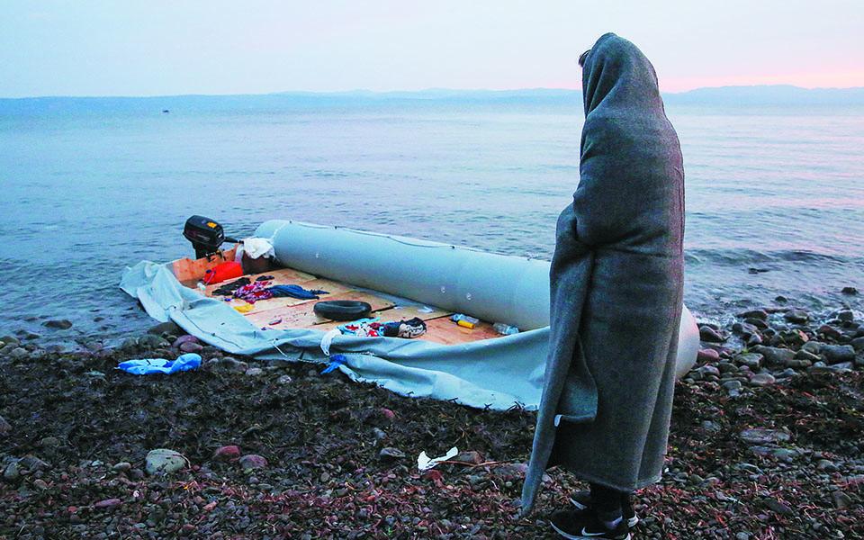 Στελέχη του Frontex και του Λιμενικού κατάφεραν να διασώσουν 32 άτομα, όχι όμως και τις δύο γυναίκες από τη Σομαλία (φωτ. αρχείου). Φωτ. EPA / ORESTIS PANAGIOTOU