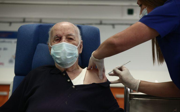 88χρονος από Μονάδα Φροντίδας Ηλικιωμένων ο δεύτερος άνθρωπος που εμβολιάστηκε