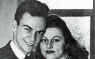 Ο Ρίτσαρντ Φέινμαν και η «γυναίκα της ζωής του» Αρλίν Γκρίνμπαουμ. Η αγάπη τους φαίνεται να νίκησε τον χρόνο.