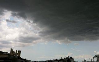 Μαύρος ουρανός λίγο πριν ξεσπάσει ισχυρή καταιγίδα με χαλάζι στο Μαρούσι, Αθήνα, Δευτέρα 01 Ιουνίου 2020. Η ΕΜΥ έχει εκδώσει για σήμερα έκτακτο δελτίο επιδείνωσης καιρού με ισχυρές βροχές και καταιγίδες οι οποίες θα συνοδεύονται τοπικά από χαλαζοπτώσεις.  ΑΠΕ-ΜΠΕ/ΑΠΕ-ΜΠΕ/ΔΕΣΠΟΙΝΑ ΚΟΡΝΗΛΑΚΗ