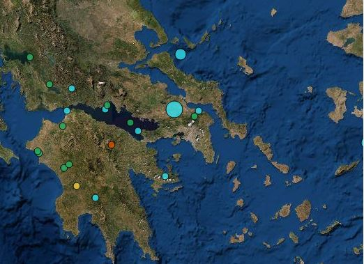 Σεισμός 4,4 Ρίχτερ στη Θήβα- Ιδιαίτερα αισθητός στην Αττική