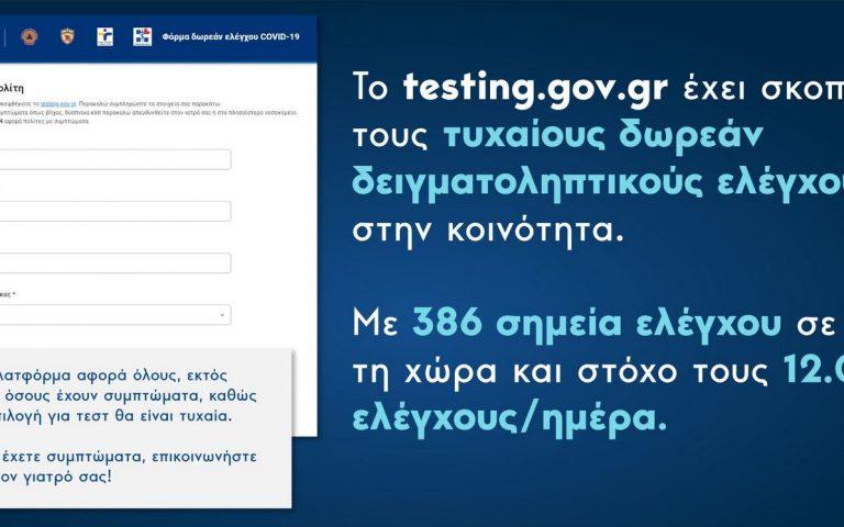 Κυρ. Μητσοτάκης: Έκκληση για συμμετοχή στα  δειγματοληπτικά test Covid-19