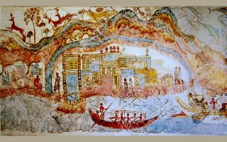 © B. Huebner, Akrotiri, Atlantis, and the Thera Eruption, June 28, 2015, Ep. 013. http://maritimehistorypodcast.com/ep-013-akrotiri-atlantis-and-the-thera-eruption/.