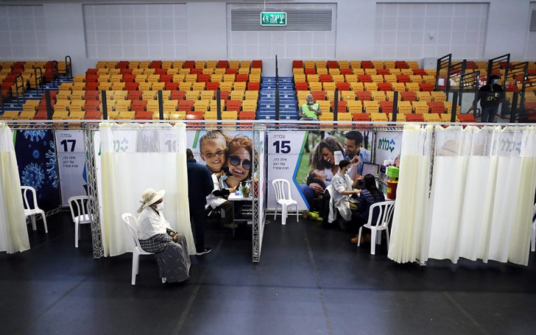 Ισραήλ: Στο 92% η αποτελεσματικότητα του εμβολίου της Pfizer