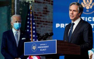O Τζο Μπάιντεν (αριστερά) προτείνει τον Άντονι Μπλίνκεν (δεξιά) ως νέο υπουργό Εξωτερικών. (Φωτ.: Reuters)