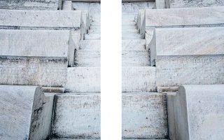 Φωτογραφία του Μιχάλη Κλουκίνα από το συλλεκτικό εικαστικό λεύκωμα «Φεστιβάλ Αθηνών και Επιδαύρου. Χώροι σε αναμονή. Tα θέατρα του Φεστιβάλ στην εποχή της πανδημίας» που κυκλοφορεί αυτές τις μέρες.