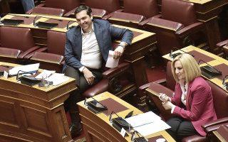 Στον ΣΥΡΙΖΑ εκτιμούν πως όταν η Ν.Δ. αρχίσει να παγιώνεται κάτω από το 35%, θα είναι μια καλή ευκαιρία για τον Αλέξη Τσίπρα να τείνει χείρα φιλίας προς τη Φώφη Γεννηματά. (Φωτ. ΙΝΤΙΜΕ ΝΕWS)