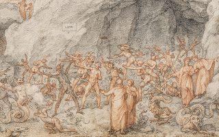 Η «Κόλαση» του Δάντη, όπως τη φαντάστηκε ο αναγεννησιακός ζωγράφος και αρχιτέκτονας Φεντερίκο Ζουκάρι.