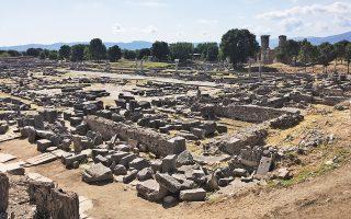Τμήμα του αρχαιολογικού χώρου.